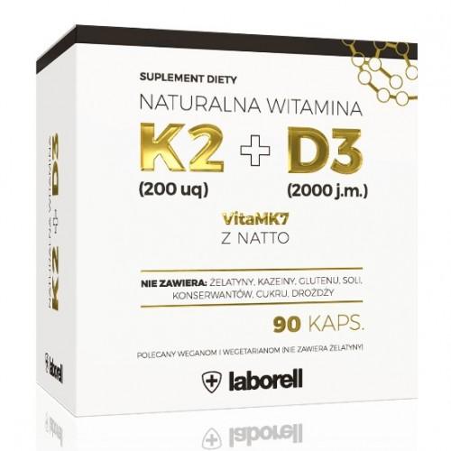 Witamina K2 MK-7 200 µg + D3 2000 j.m. - 90 kapsułek