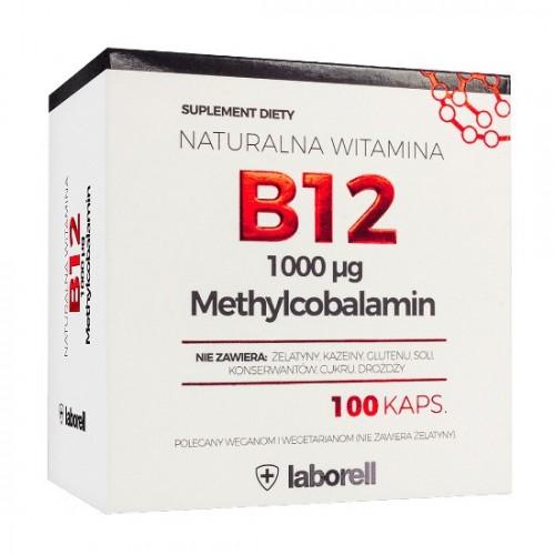 Witamina B 12 Methylcobalamin - 100 kapsułek