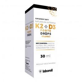 Naturalna Witamina K2+D3 FORTE Drops (krople) - 30 ml /900 kropli