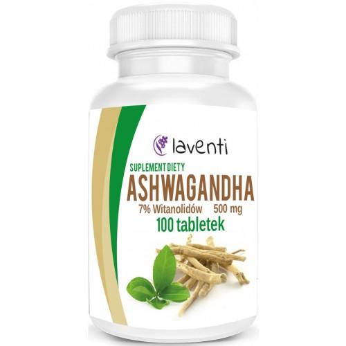 Ashwagandha 500 mg 100 tabletek